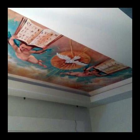 Αναγεννησιακό θέμα σε οροφή